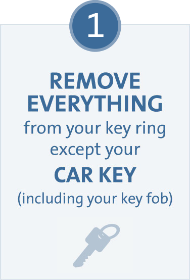 Remove Everything From Your Key Ring Except Your Car Key, Including Your Key  Fob ...